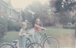 Ann and Ruth on bikes