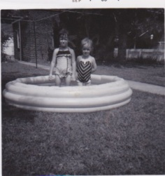 Lea and Ann in pool